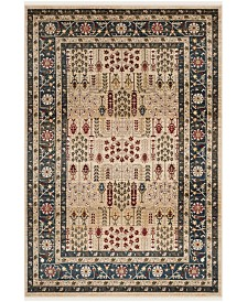 Margaux LRL1297D Beige and Navy Area Rug Collection