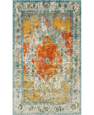 Mishti Mis9 Orange 8' x 8' Round Area Rug