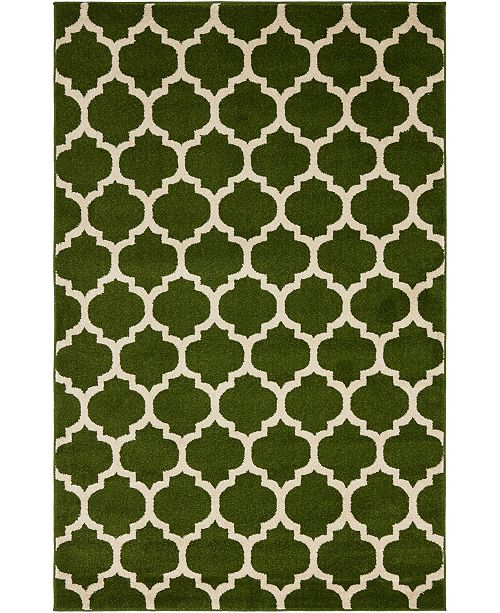 Bridgeport Home Arbor Arb1 Dark Green Area Rug Collection
