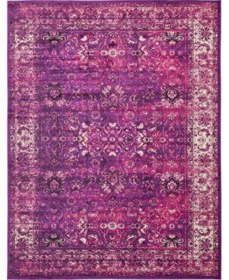 Linport Lin1 Lilac 2' x 3' Area Rug