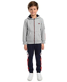 Little Boys Tim Icon Colorblocked Logo Hoodie & Chaka Logo-Print Fleece Sweatpants