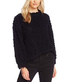 Vince Camuto Teddy-Knit Mock-Neck Sweater