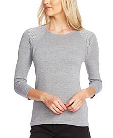 Studded 3/4-Sleeve Sweater