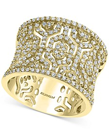 EFFY® Diamond Pattern Wide Statement Ring (3/4 ct. t.w.) in 14k Gold