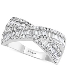 EFFY® Diamond Crossover Statement Ring (7/8 ct. t.w.) in 14k White Gold