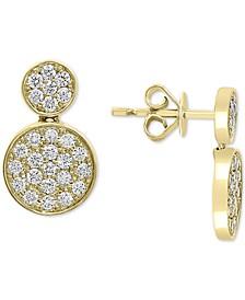EFFY® Diamond Cluster Drop Earrings (3/4 ct. t.w.) in 14k Gold