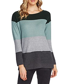 Colorblocked Waffled Sweater