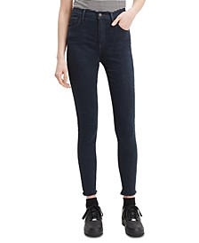 Raw Hem High-Waist Jeans