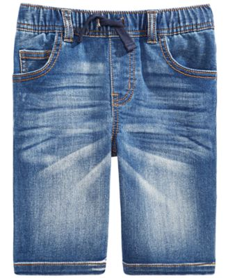 Little Boys Baxter Stretch Denim Shorts, Created For Macy's