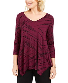 V-Neck Handkerchief-Hem Top, Created For Macy's