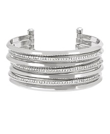 BCBGeneration Pave Multi Row Cuff Bracelet