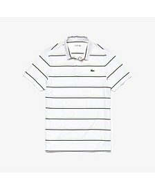 Short Sleeve Stripe Golf Polo Shirt