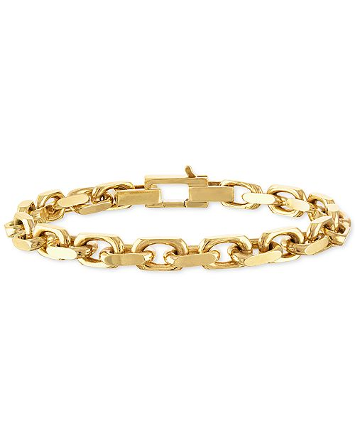Esquire Men's Jewelry Cable Link Chain Bracelet, Created For Macy's