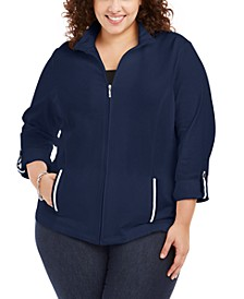 Plus Size French Terry Jacket, Created For Macy's
