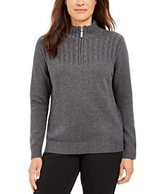 Cotton Zip-Neck Sweater, Created for Macy's
