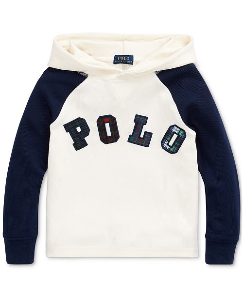 Polo Ralph Lauren Little Boys Knit Waffle Hooded Thermal