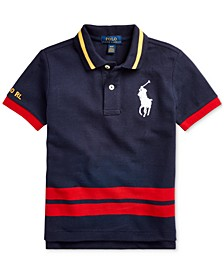 Toddler Boys Big Pony Cotton Mesh Polo Shirt