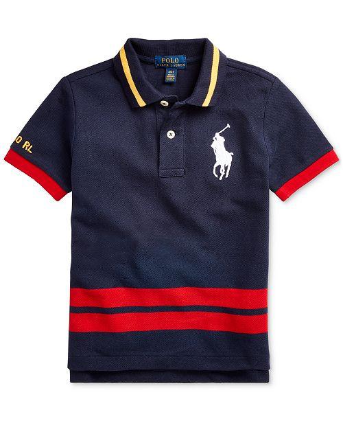 Polo Ralph Lauren Toddler Boys Big Pony Cotton Mesh Polo Shirt