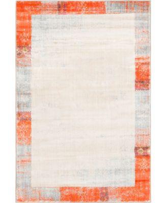 Haven Hav4 Orange 5' x 8' Area Rug