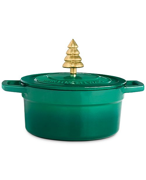 Martha Stewart Collection 2-Qt. Enameled Cast Iron Dutch Oven with Tree Knob, Created For Macy's