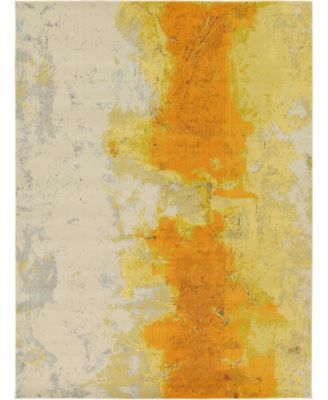 Newwolf New4 Yellow 9' x 12' Area Rug