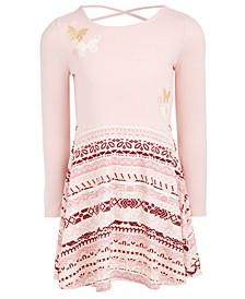 Little Girls Butterflies Fit & Flare Dress, Created For Macy's