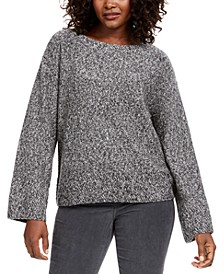 Marled Flared-Sleeve Sweater, Created for Macy's
