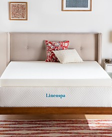 "Linenspa Signature Collection 4"" ActiveRelief Memory Foam Mattress Topper"