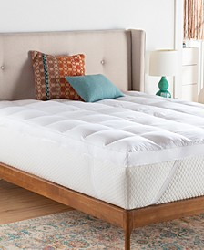 "3"" Down Alternative Fiber Bed Mattress Topper, Full"