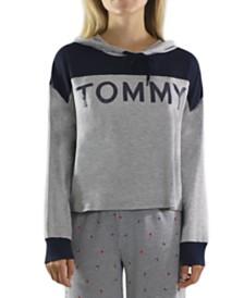 Tommy Hilfiger Colorblocked Cropped Pajama Hoodie