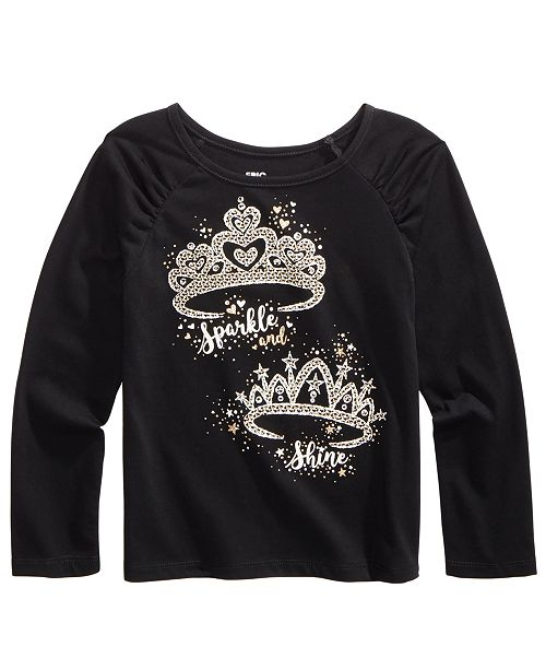 Epic Threads Toddler Girls Sparkly Tiara T-Shirt, Created For Macy's