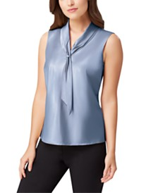 Tahari ASL Petite Sailor-Neck Top
