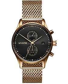Men's Voyager Eclipse Gold-Tone Stainless Steel Mesh Bracelet Watch 42mm