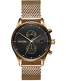 MVMT Men's Voyager Eclipse Gold-Tone Stainless Steel Mesh Bracelet Watch 42mm