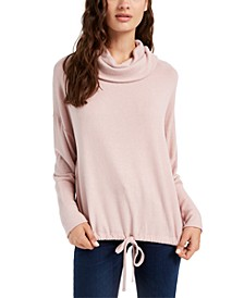 Juniors' Cozy Funnel-Neck Top