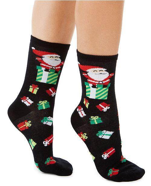 Charter Club Women's Santa Presents Crew Socks, Created For Macy's