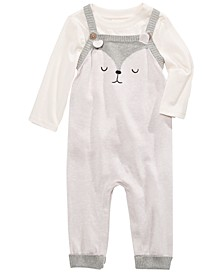 Baby Boys 2-Pc. T-Shirt & Bear Sweater Overalls Set, Created For Macy's