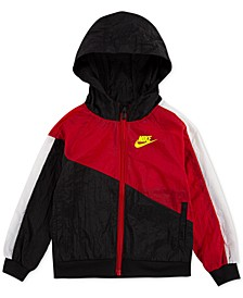 Little Boys Hooded Colorblocked Jacket