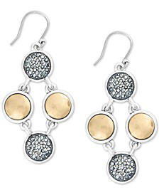 Two-Tone Hematite-Pavé Flex Drop Earrings