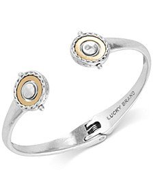 Two-Tone Hematite-Pavé Reversible Cuff Bracelet