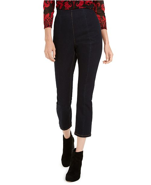 INC International Concepts INC High-Waist Skinny Cropped Jeans, Created for Macy's