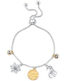 Frozen 2 Charm Bolo Bracelet in Two-Tone Silver-Plate