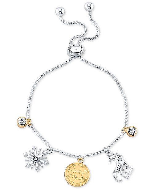 Disney Frozen 2 Charm Bolo Bracelet in Two-Tone Silver-Plate