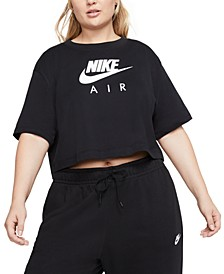 Air Plus Size Short-Sleeve Crop Top