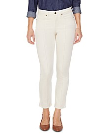Tummy-Control Pintucked Sheri Skinny Ankle Jeans