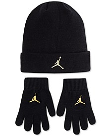 Big Boys 2-Pc. Metallic Jumpman Beanie & Gloves Set