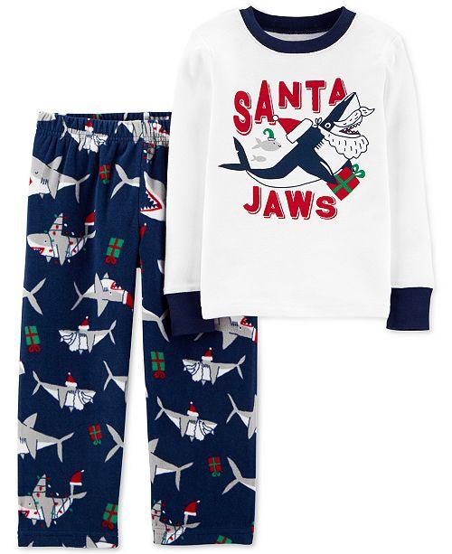 Carter's Toddler Boys 2-Pc. Santa Jaws Pajamas Set
