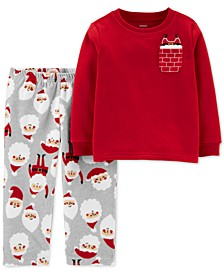 Toddler Boys 2-Pc. Fleece Holiday Santa Set