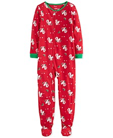 Little & Big Girls Footed Fleece Unicorn Pajamas