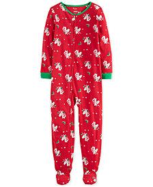 Carter's Little & Big Girls Footed Fleece Unicorn Pajamas